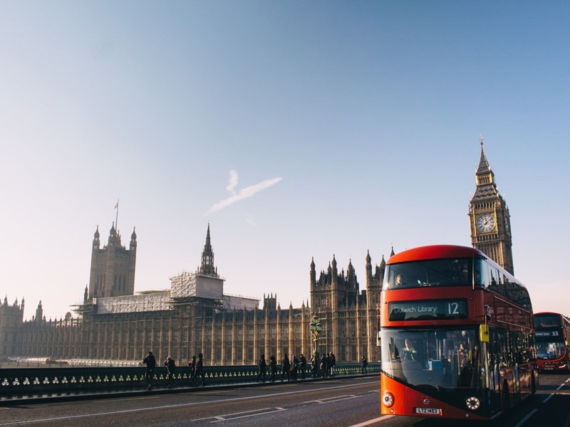 London Big Ben With Bus