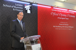 Opening ceremony of LSBF Singapore Campus