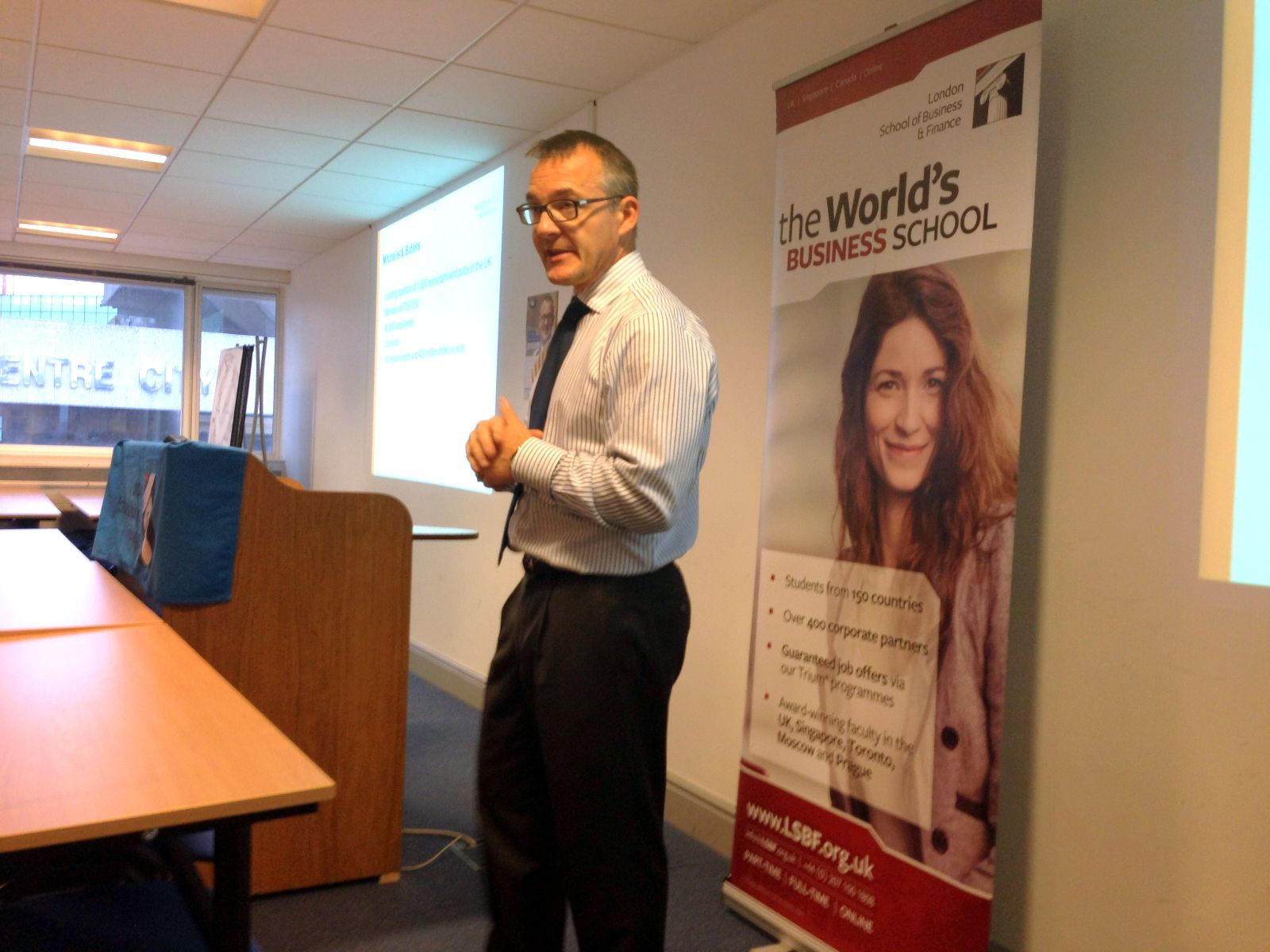 Alistair Darby delivered presentation to help enhance students management skills