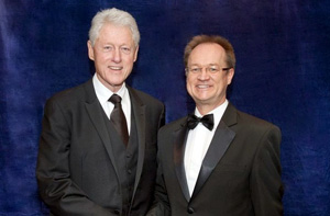 Prof James Kirkbride meets with former US President Bill Clinton